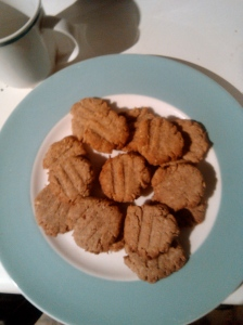 Cookies on a plate slightly soft focus - it was a plan, soft edges like a 1980s video for an overwrought ballad