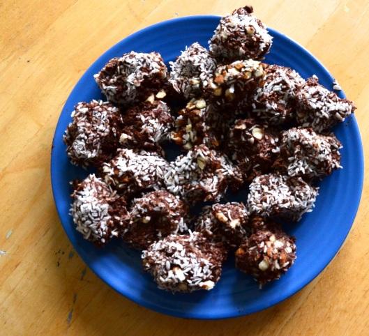 Fluffly Aduki Cocoa truffles or Red velvet Aduki Truffles?