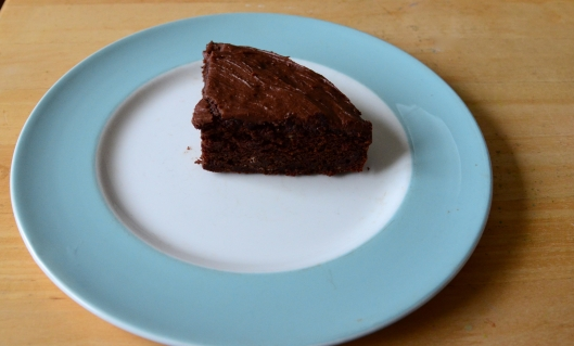 Last big slice! I then poured vegan cream over the top!