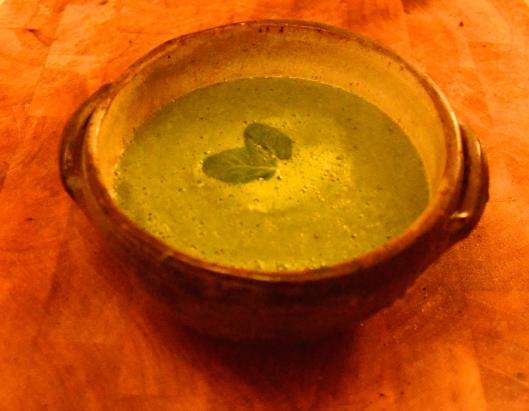 Green! Creamy! Pea-y minty!!