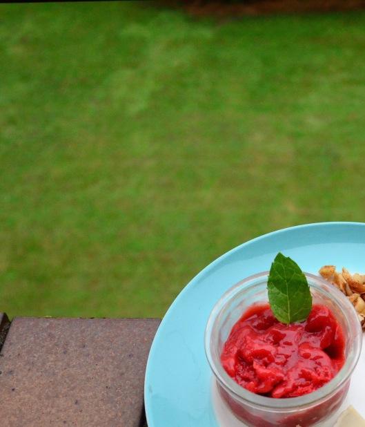 Strawberry Mint Sorbet... melting